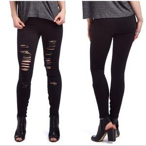 Joe's Jeans Ankle Zip Distressed Skinny Jeggings
